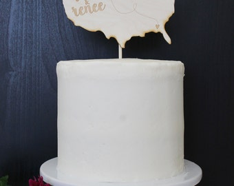Personalized United States Wedding Cake Topper | Custom Name | Shortcake Collection