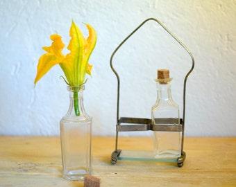 Condiment set, Oil and vinegar set, Oil bottle, Cruet, Table set, Collectible bottle, Glass jars, Wedding centerpiece, Apothecary bottle