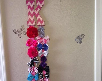 Initial Hair Bow Holder - Accessory Holder