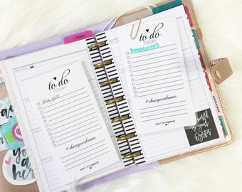 To Do List Reusable Laminated Bookmark / To Do List Notepad Planner Accessory