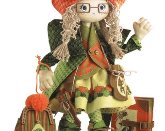 Textile Doll Autumn Sewing Kit Textile carcass doll with individual traits Kit Nova Sloboda