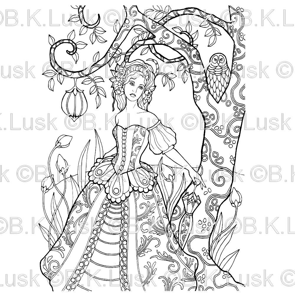 elaborate fairy coloring pages - photo#12