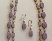 Luscious Lavender Necklace, Earrings