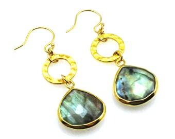 Labradorite Earrings, Labradorite Jewelry, Grey Earrings, Grey Dangle Earrngs, Grey Drop Earrings, Labradorite Teardrop, Grey Stone Earrings