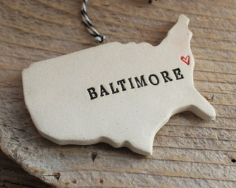 Baltimore Pottery Ornament - Baltimore, Maryland