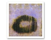 FINE ART PRINT of Original Black, Lavender and Green Abstract Painting - Moonseed by Lisa Carney - Giclee Reproduction size 12x12 inches