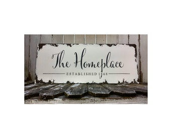 Business Sign | Shabby Chic Sign | Hand Painted | Wooden | Home Office Decor | Rustic Chic