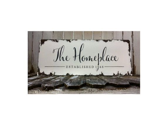 Business Sign   Shabby Chic Sign   Hand Painted   Wooden   Home Office Decor   Rustic Chic
