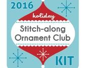 KIT: Holiday Stitch-along Ornament Club