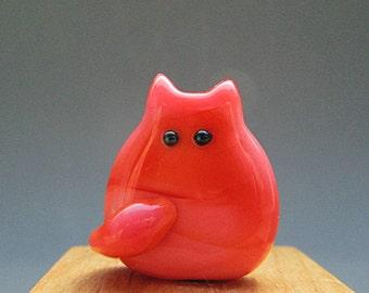 Handmade Lampwork Kitten Bead - Prudence FatCat
