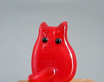Cat Bead Handmade Lampwork Focal - Conner FatCat