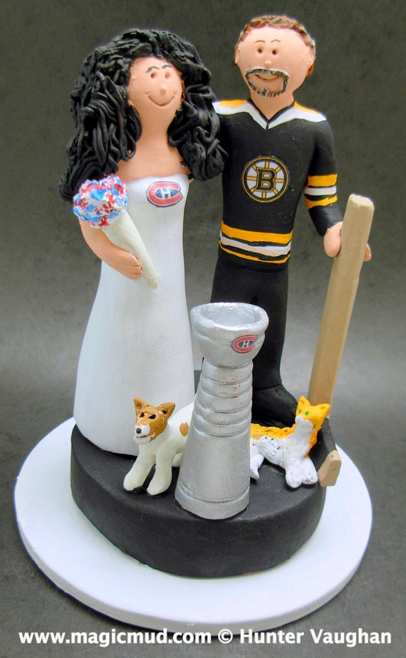 custom hockey wedding cake toppers boston bruins groom wedding cake topper montreal canadians 13202