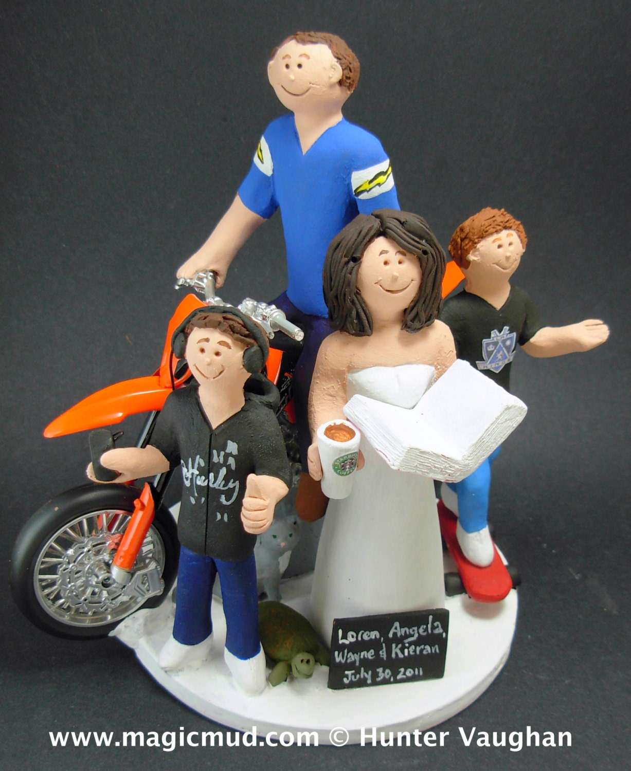 Second Marriage Wedding Cake Topper Blended Family Mixed Step