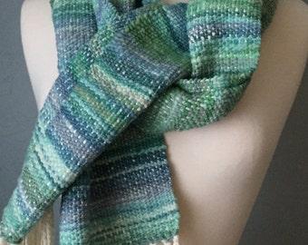 HAND WOVEN Merino Wool Scarf