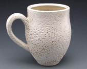 Creamy White Mug 1. Judi Tavill Coral Textured Coastal Beach Style Organic Feeling Functional Cup.