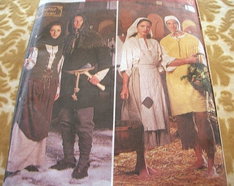 Simplicity 8587 Peasant Wench Serf Misses Mens Teens Renaissance Medieval Sewing Pattern partially cut Andrea Schewe