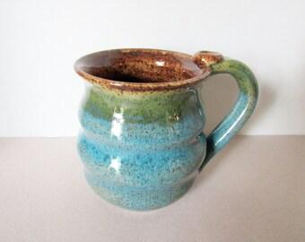 Wavy Mug - Speckled Mug - 14 oz  Coffee Cup - Ready to Ship Ceramic Cup