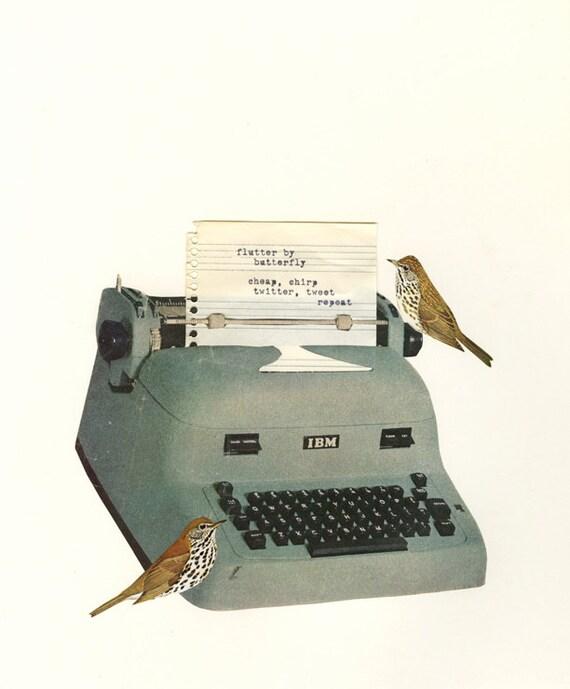 Beat birds. Original collage by Vivienne Strauss.