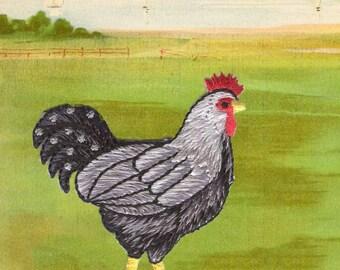 Farm Chicken Applique!