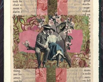 In The Garden Love Collage Card Engagement Wedding Anniversary