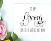 Card for Groom on Wedding Day - Card for Future Husband - Wedding Card for Groom