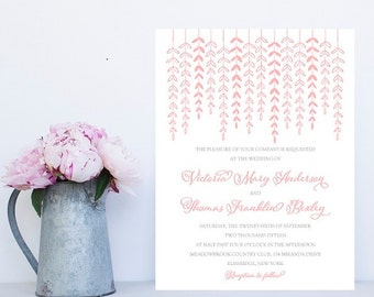 Blush Pink Wedding Invitation - Fast, Unique Wedding Invitation