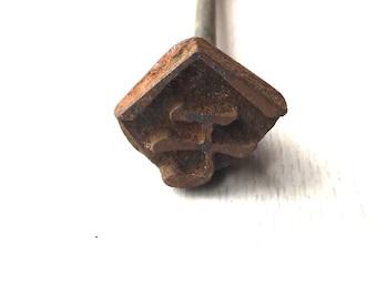 Vintage Japanese Yakiin - Branding  Iron - Metal Stamp - Vintage Stamp - Japanese Stamp - Katakana Character MO B2-84