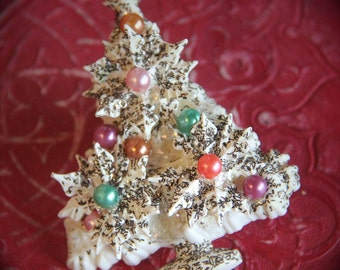 Gorgeous Vintage Mid Century Brooch Christmas Tree Pin - 1950s