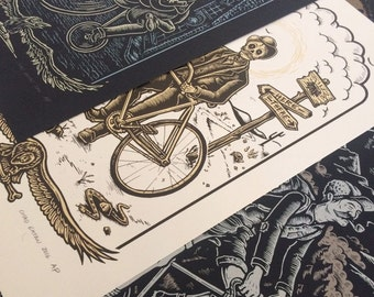 BYCYCLE 3 SET screenprinted posters