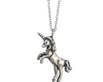 Unicorn Necklace    charm pendant silver gold jewelry