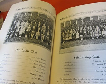 1926 Portland Oregon Franklin High School Yearbook - Filled with Autographs