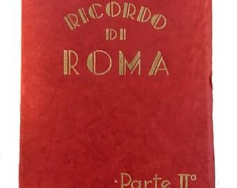 Gorgeous Vintage Little Souvenir Book of Color Photos of Rome - 20 Images