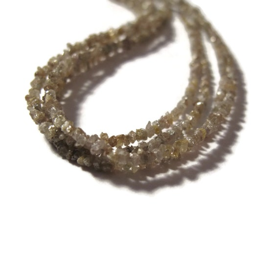 Light Brown Rough Diamond Beads, Natural Raw Diamond Beads, Conflict Free, 8 Inch Strand for Jewelry Making (S-Di7)