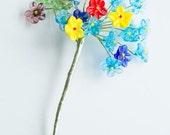 Vintage glass flower bouquet