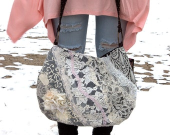 Lacey layers with flower applique