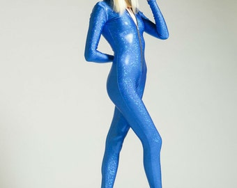 SALE Bright Blue Holographic Bodysuit Flotation Device for the Soul