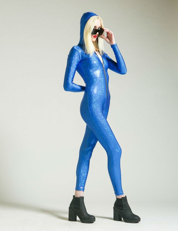SALE Bright Blue Holographic Bodysuit for Flotation Device for the Soul