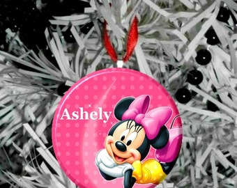 Personalize Minnie Mouse Ornament