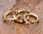 Artisan Dotted Open Jump Rings in Bronze, AJ9