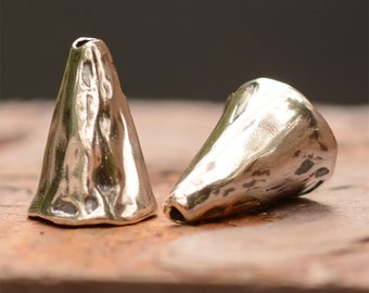 Two Artisan Sterling Silver Cones, S225