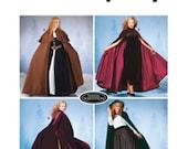 Simplicity 5794 - Women's Costume Floor Length Hooded Cape Pattern XS-S-M-L