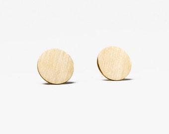 brass stud earrings, stud earrings gold, flat circle stud earrings, sterling silver dot studs, boho stud earrings, jewelry