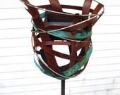 Bird feeder Sculptural Steel & Copper Bird Feeder No. 323 - Freestanding unique modern birdfeeder