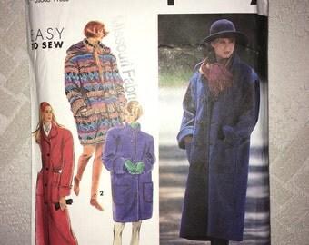 Uncut Vintage Simplicity pattern No. 7457 - Size Petite-Extra Large - Lined Coat 2 Lengths Detachable Hood