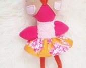Beatrice the Owl, softie doll plush