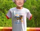 vintage 90s tee shirt TEACHER like no utter udder cow ringer t-shirt Medium wtf
