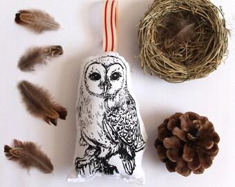 Black Barn Owl Lavender Bag