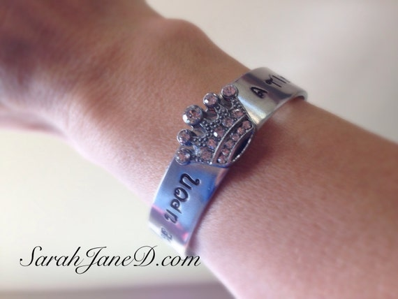 Princess stamped bracelet, Run Disney jewelry, custom stamped bracelet, princess half, princess marathon, 13.1, 10K, glass slipper challenge
