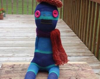 Sock Creature - Extreme Sock Doll - Sock Monster - Jacque the Sock Artist - Creepy, Weird, Strange Plush Doll