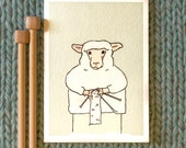 knitting sheep card: purl